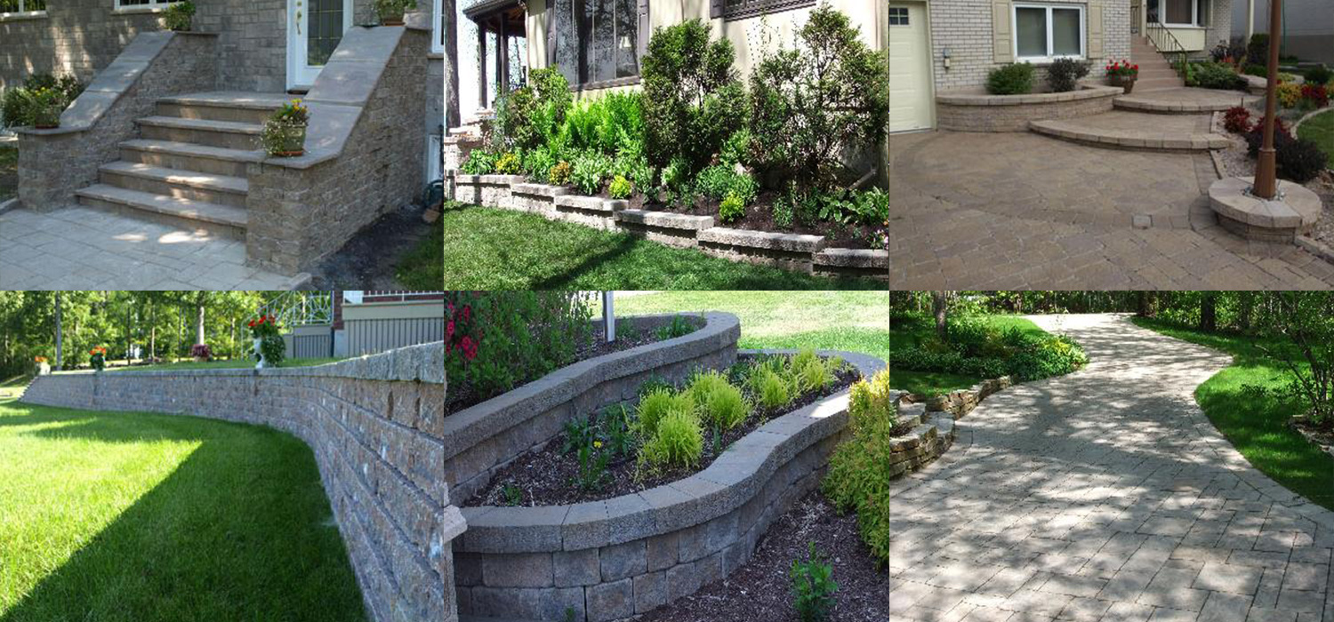 Wide range of paving stones, slabs, steps and curbs